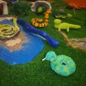 Reptilien aus Gips